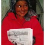 Kazachstan. Sprzedawczyni gazet