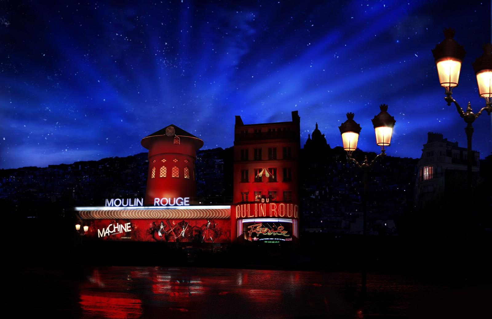 Moulin Rouge z zewnątrz