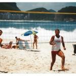 Brazil. Rio. Siatkonoga na Copacabana